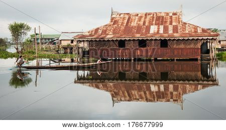 Landscape Of Inle Lake In Shan State, Myanmar
