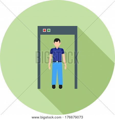 Museum, security, guard icon vector image. Can also be used for museum. Suitable for mobile apps, web apps and print media.