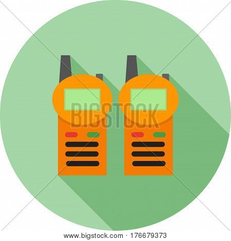 Walkie, talkie, radio icon vector image. Can also be used for meseum. Suitable for web apps, mobile apps and print media.
