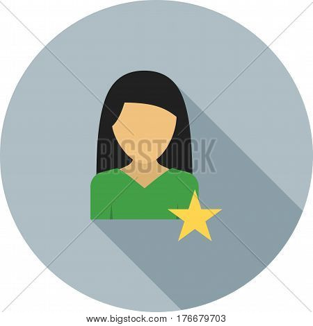 Favorite, starred, star icon vector image. Can also be used for women. Suitable for mobile apps, web apps and print media.