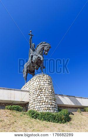 Monument Of King Erekle Ii In Telavi. Georgia