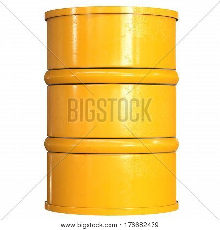Yellow Barrel Isolated On White