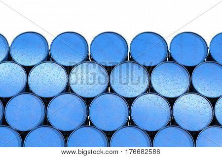 Heap Of Blue Barrels