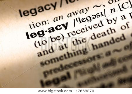 legacy dictionary definition