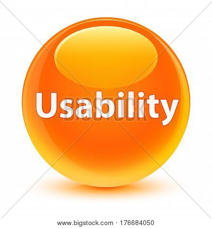 Usability Glassy Orange Round Button
