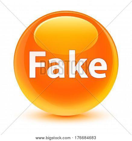 Fake Glassy Orange Round Button