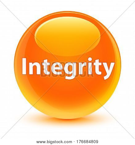 Integrity Glassy Orange Round Button