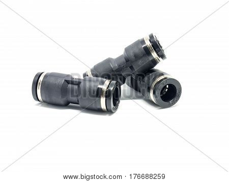 Pneumatic Fittings Isolated On White Background.