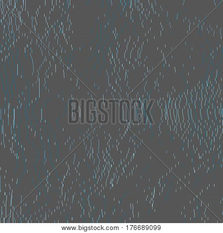 Contemporary abstract vector background. Fluctuations of glitched digital data. Illustration in soft colors. Array of short dashes. Element of design.