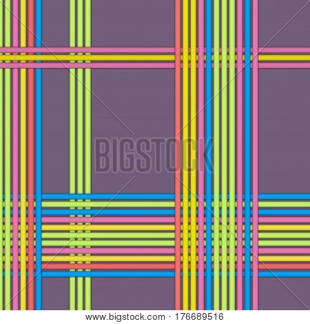 Seamless Abstract Line Pattern. Material Design. Trendy color. Neo vintage pattern.