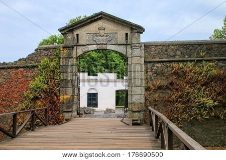 Porton De Campo (city Gate) In Colonia Del Sacramento, Uruguay.