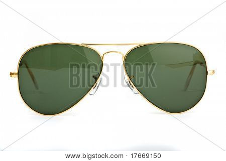 vintage sunglasses on white background