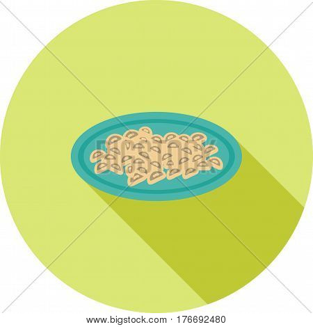 Gnocchi, food, potato icon vector image. Can also be used for european cuisine. Suitable for mobile apps, web apps and print media.