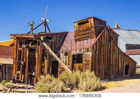 Vintage Wooden Saw Mill In California Ghost Town