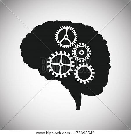 dark brain gears inspiration vector illustration eps 10