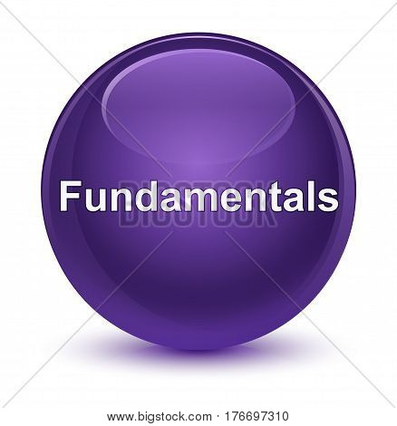 Fundamentals Glassy Purple Round Button