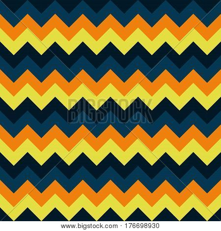 Chevron pattern seamless vector arrows geometric design colorful yellow orange teal turquoise dark naval blue