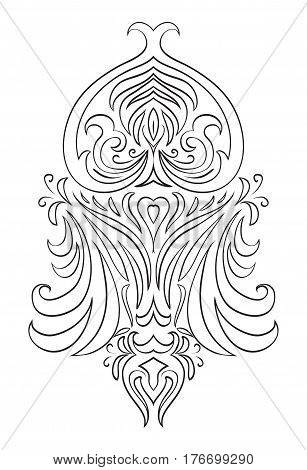 Black and white vintage tracery. Vector pattern for frames invitations and your design