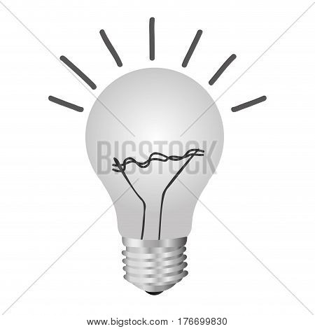color silhouette of light bulb idea vector illustration