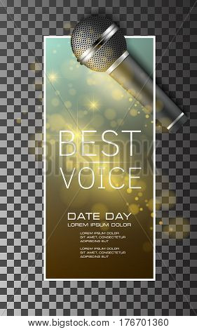 best voice microphone background poster vector illustration