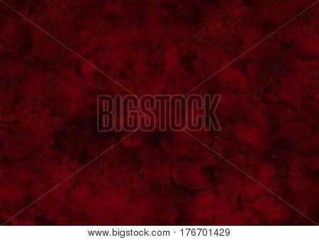 Dark Crimson Red Grunge Cracks Wall Background
