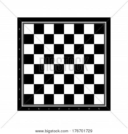 chessboard icon. flat vector illustration isolated on white background
