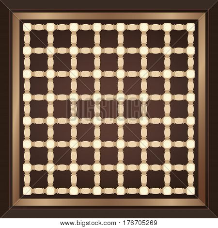 Decorative Arabian Motif Handcrafted Wooden Tiles Board