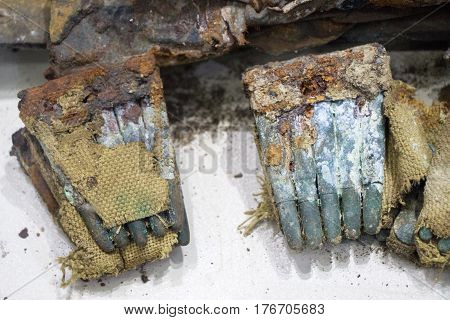 Cartridges Of Rusty Bullet Ammunition