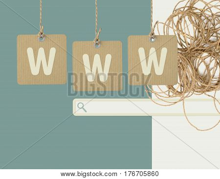 WWW technology, internet and searching system concept