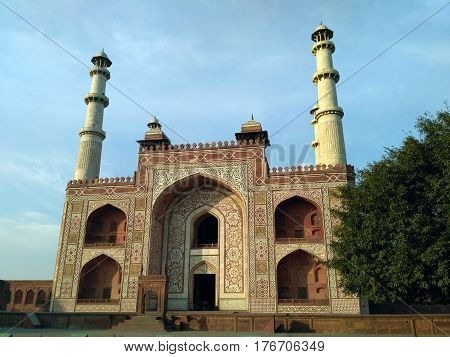 Sikandra tomb front view built by Akbar the great
