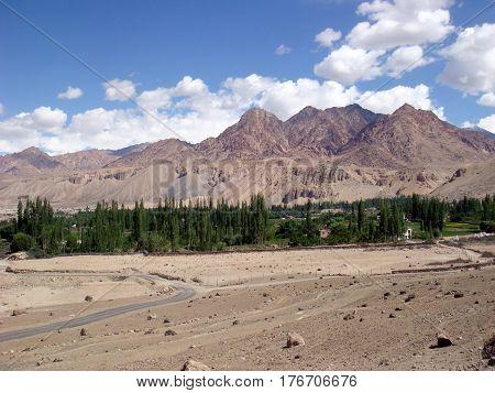Beautiful landscape on the way to Leh Ladakh