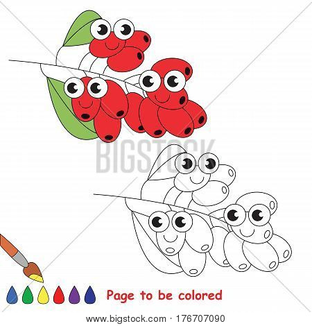 Red Burberry to be colored. Coloring book to educate kids. Learn colors. Visual educational game. Easy kid gaming and primary education. Simple level of difficulty. Coloring pages.