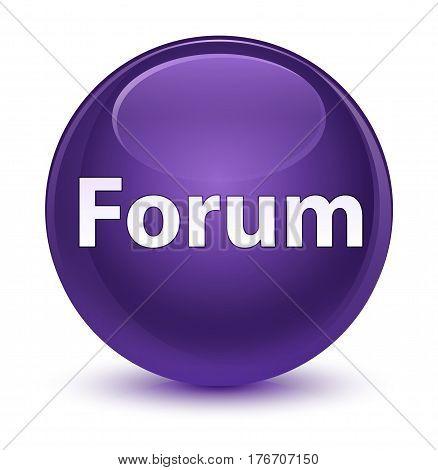 Forum Glassy Purple Round Button