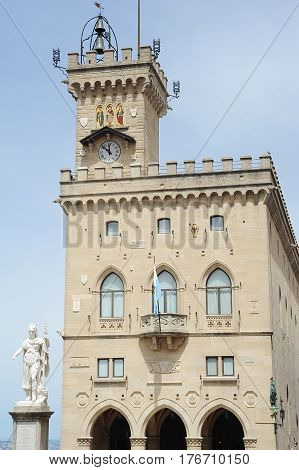 The Public Palace On Borgo Maggiore