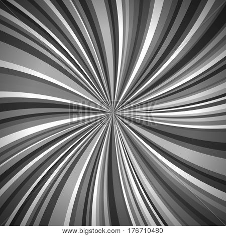 Rays Striped Pattern with Black and White Light Burst Stripes. Abstract Wallpaper Background, Vintage Illustration.