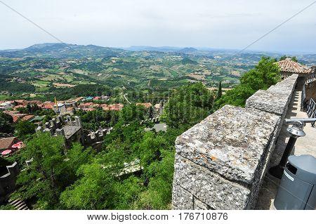The View From La Rocca Fortless On Borgo Maggiore