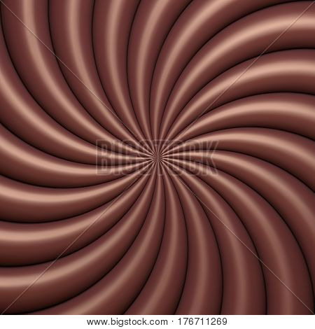 Abstract chocolate swirl background. Vector illustration Eps 10