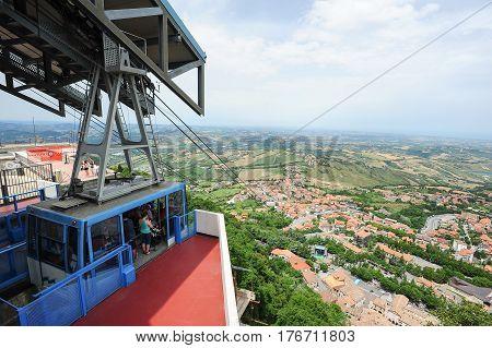 Cable Way To Borgo Maggiore On San Marino