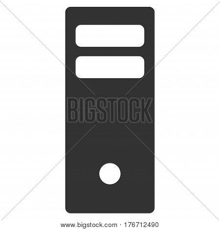 Server Mainframe vector icon. Flat gray symbol. Pictogram is isolated on a white background. Designed for web and software interfaces.