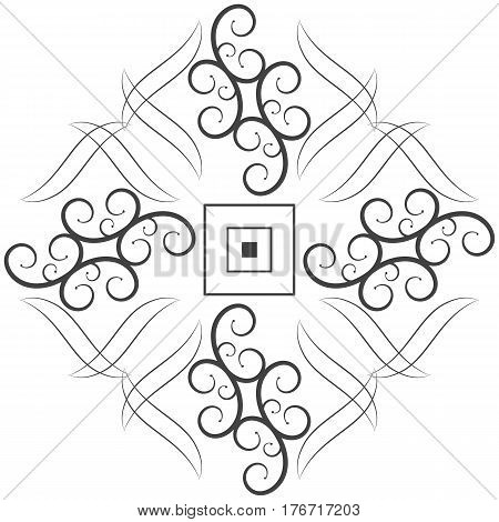 Ornament element frame decorative border floral illustration vector design decoration.