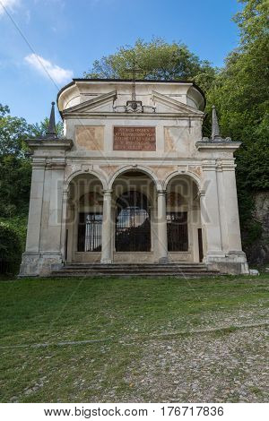 Tenth Chapel At Sacro Monte Di Varese. Italy