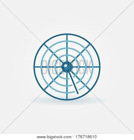 Radar creative icon - flat vector sign or logo element