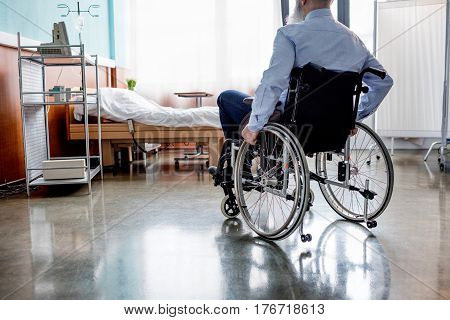 Senior Patient In Wheelchair
