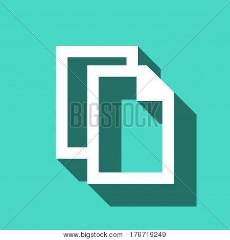copy icon stock vector illustration flat design