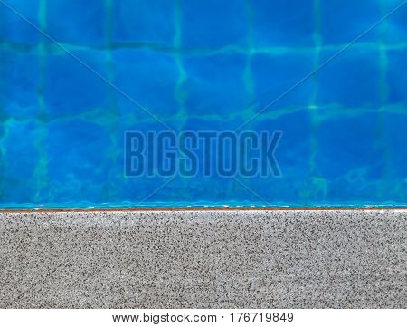 Pool side with copy space for product or text message.