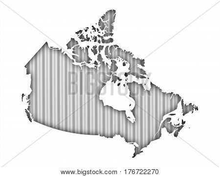 Map Of Canada On Corrugated Iron