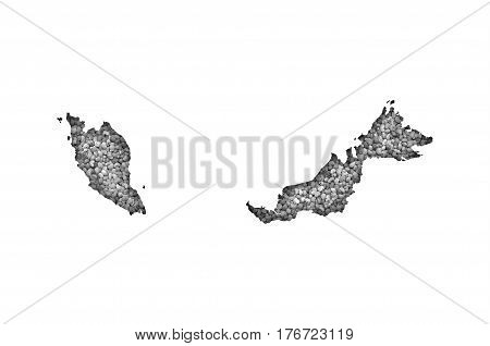 Map Of Malaysia On Poppy Seeds