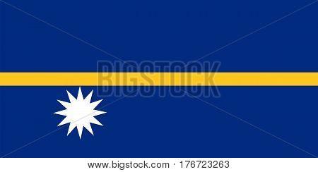 Colored Flag Of Nauru