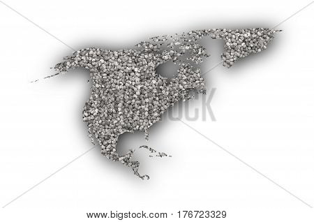 Map Of North America On Poppy Seeds