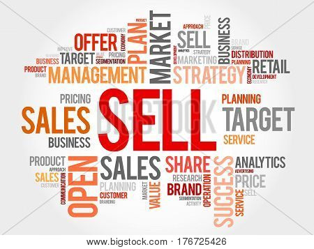 Sell Word Cloud Collage
